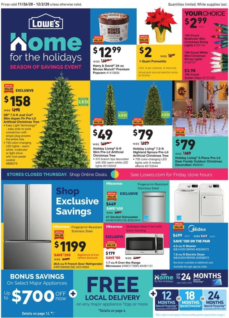 Lowe's Black Friday 2020 Page 1