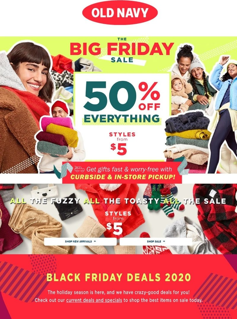 Old Navy Black Friday 2020 Page 1