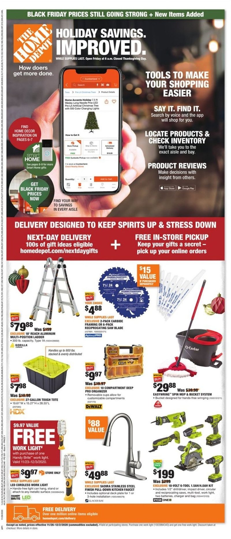 Home Depot Cyber Monday 2020 Page 1